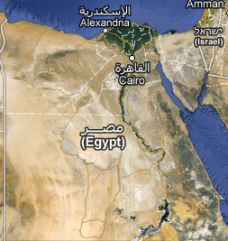 Mapa do Egito atualmente