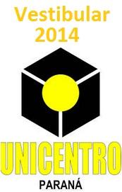 Vestibular UNICENTRO 2014 2013-Inscrições e obras literárias/livros