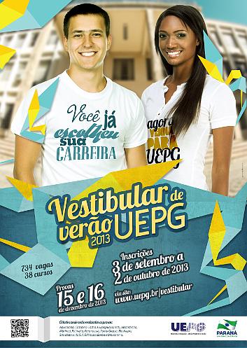 Inscrições vestibular UEPG 2013 verão