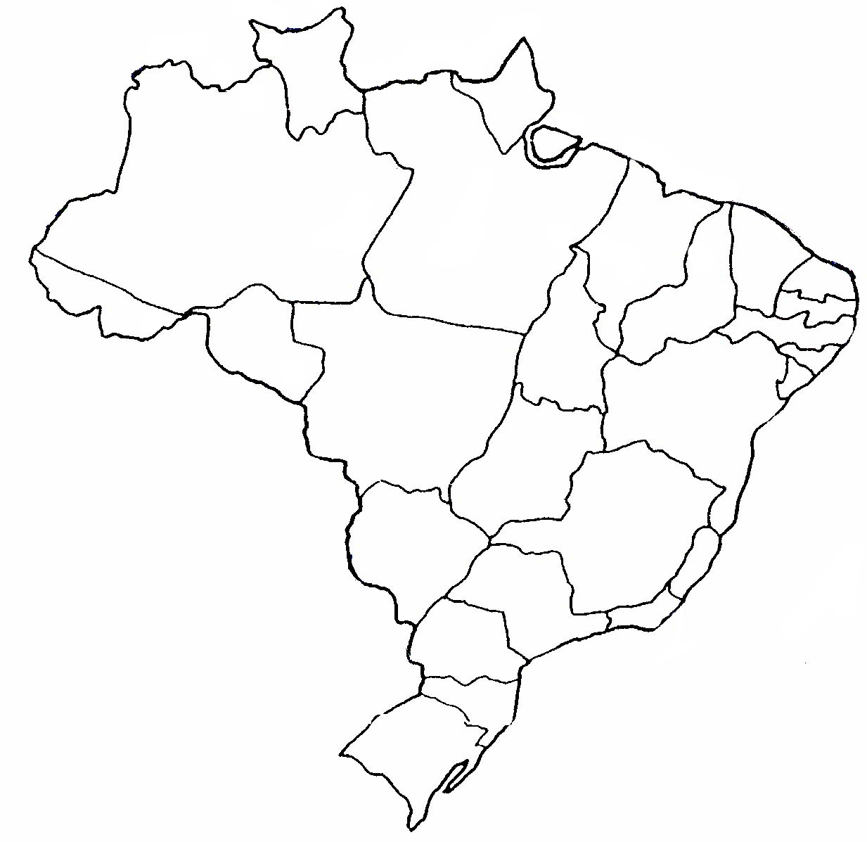 Mapa do Brasil para colorir e imprimir