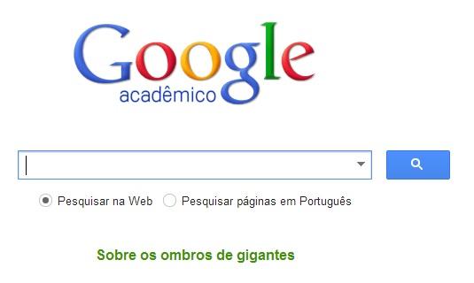 Google acadêmico para buscar artigos e trabalhos já feitos