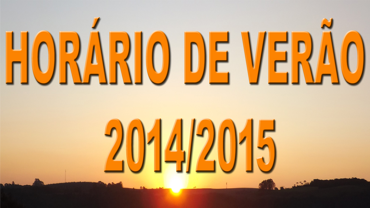 Inicio e fim do horário de verão 2014 temporada 2014-2015