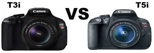 Câmera DSLR de entrada Canon linha Rebel T5i 700D e T3i 600D